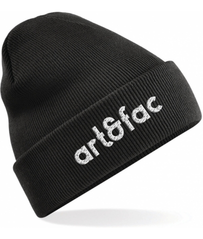 ART & FAC - Bonnet Original à revers - Noir