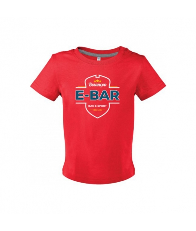 T-Shirt Bébé E-Bar - Rouge