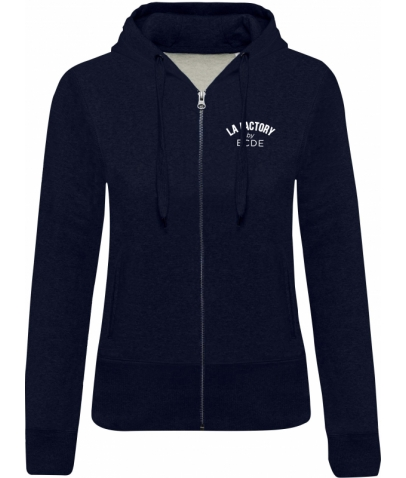 Sweat-shirt BIO zippé femme - French Navy Heather