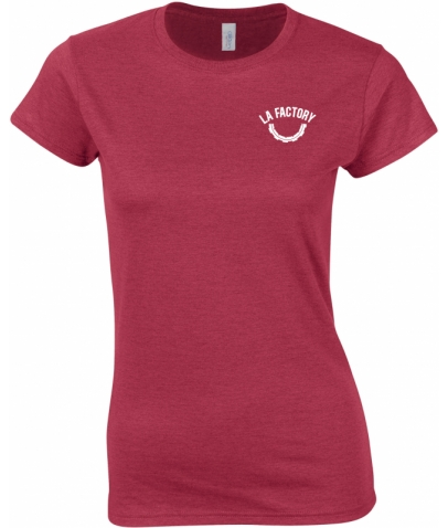 T-SHIRT FEMME SOFTSTYLE - ANTIQUE CHERRY RED