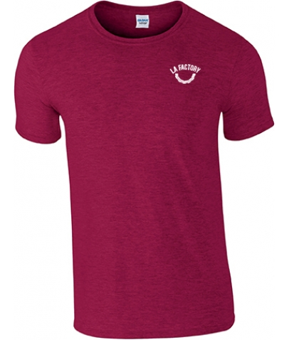 T-SHIRT HOMME SOFTSTYLE - ANTIQUE CHERRY RED