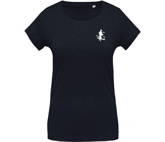 Halloween T-shirt coton BIO col rond femme - French Navy Heather