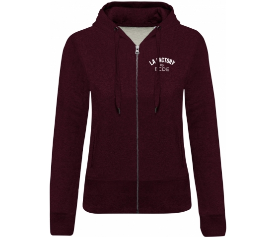 Sweat-shirt BIO zippé femme - Wine Heather