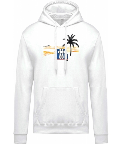 Sweat-shirt capuche Unisexe - White