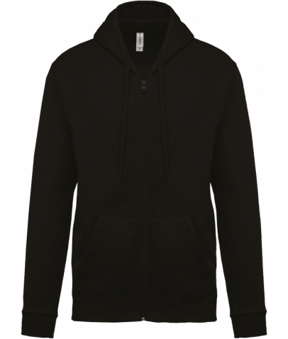 Sweat-shirt zippé capuche - Black