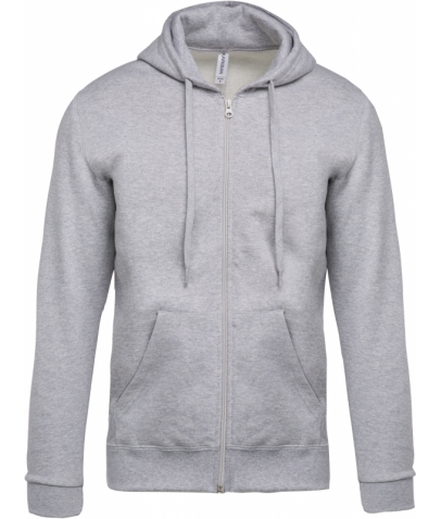 Sweat-shirt zippé capuche - Oxford Grey