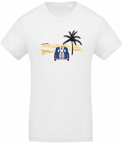 T-Shirt avec col rond -  White