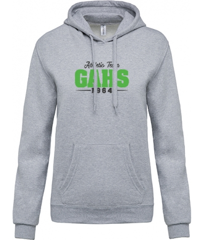 Sweat à Capuche Enfant - Athletic Team GAHS - Oxford Grey