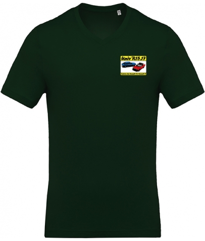 T-shirt avec Col en V - Forest Green