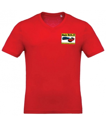 T-shirt avec Col en V - Red