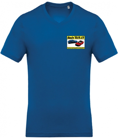 T-shirt avec Col en V - Royal Blue