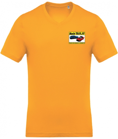 T-shirt avec Col en V - Yellow