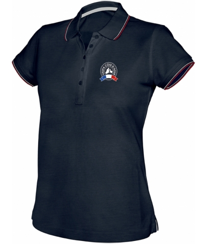 Vespa Polo - Femme - Navy Red White