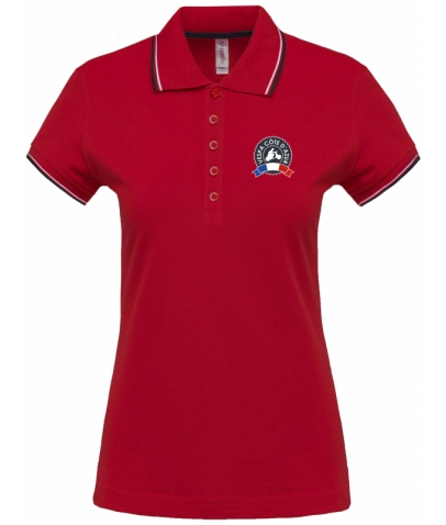 Vespa Polo - Femme - Red Navy White