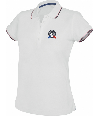 Vespa Polo - Femme - White Navy Red