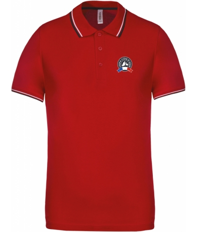 Vespa Polo - Homme - Red Navy White
