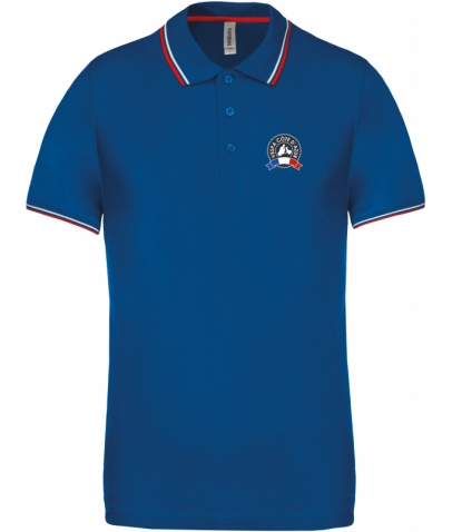Vespa Polo - Homme - Royal Blue Red White