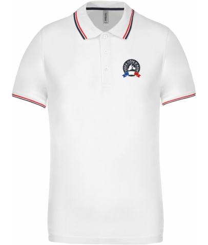 Vespa Polo - Homme - White Navy Red