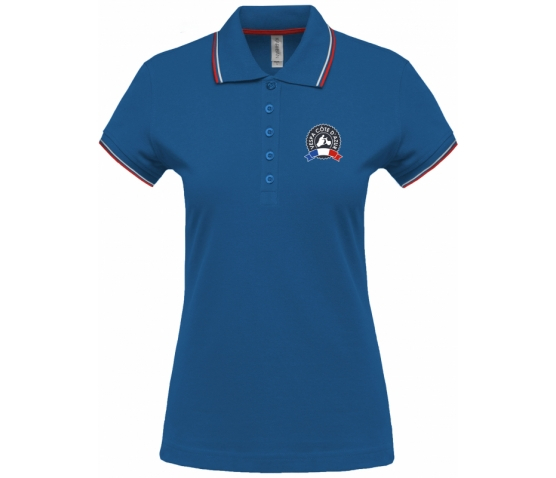 Vespa Polo - Femme - Royal Blue Red White